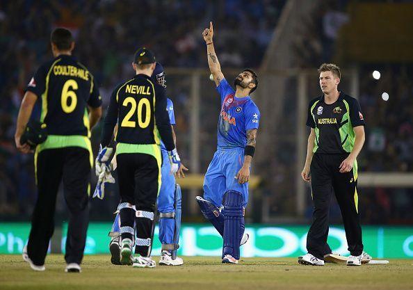 Virat Kohli owned the Australian bowlers in Mohali