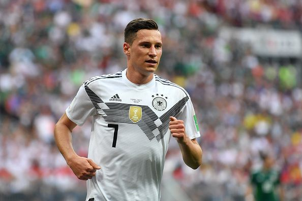 Julian Draxler in the Germany v Mexico: Group F match in the 2018 FIFA World Cup