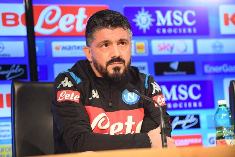 Gennaro Gattuso in his first press conference as Napoli manager