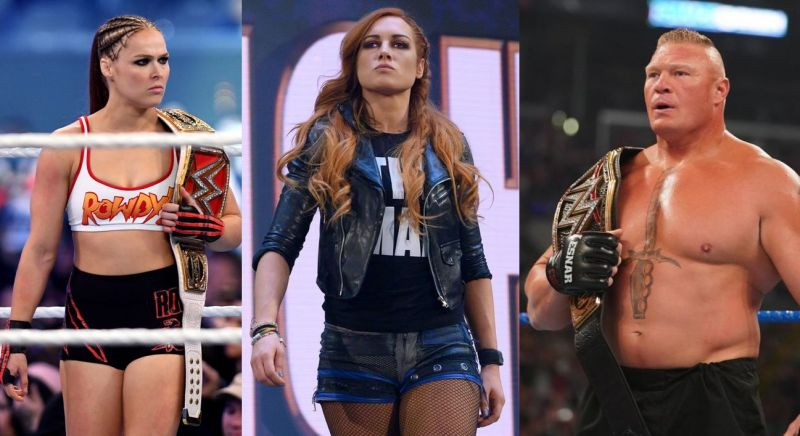 Despite having a great year, Ronda Rousey, Becky Lynch, Brock Lesnar won