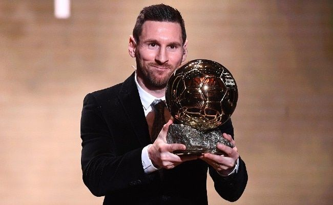 Lionel Messi became the first player in the history of the game to win 6 Ballon d