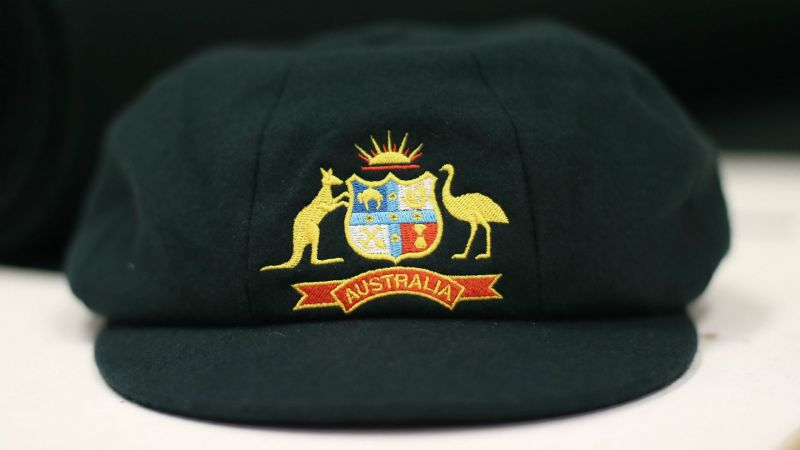 An Australian baggy green cap