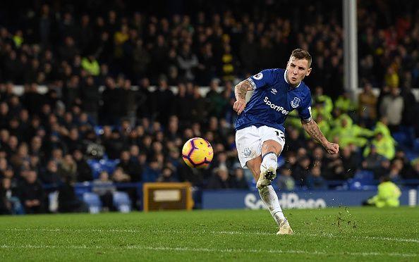 Lucas Digne of Everton