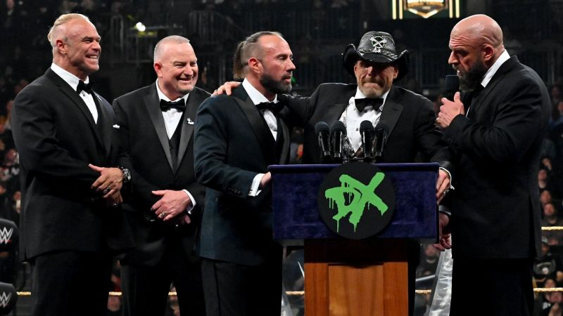 D-Generation X during their WWE Hall of Fame induction