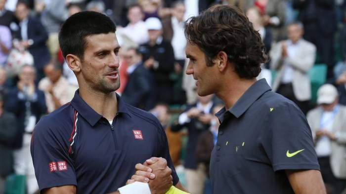 Djokovic (left) and Federer are two of the most prolific winners at the Australian Open