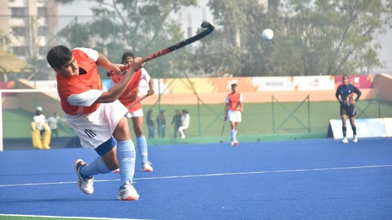 The hockey action continues in Guwahati with the U-21 age category semi-finals