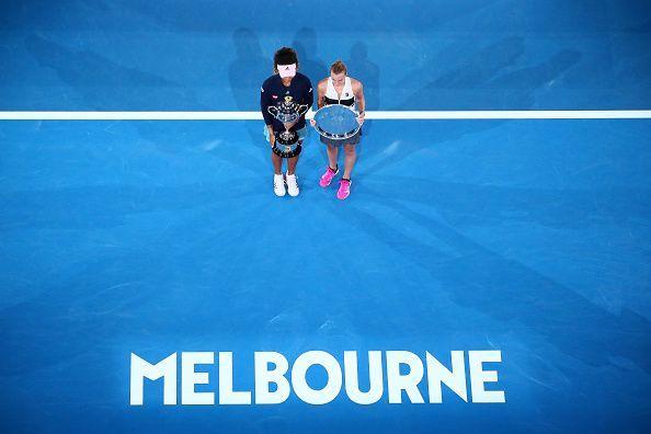 Both Naomi Osaka and Petra Kvitova are in the top half of the draw