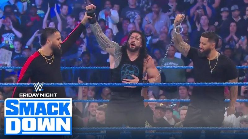 The Usos returned to save Roman Reigns from another dog food attack!