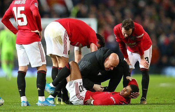 Marcus Rashford is an injury concern for United.