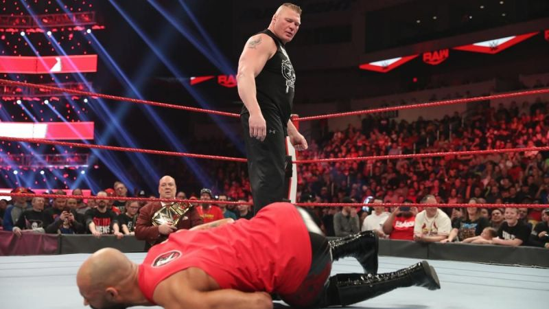 Brock Lesnar destroyed Ricochet on this week