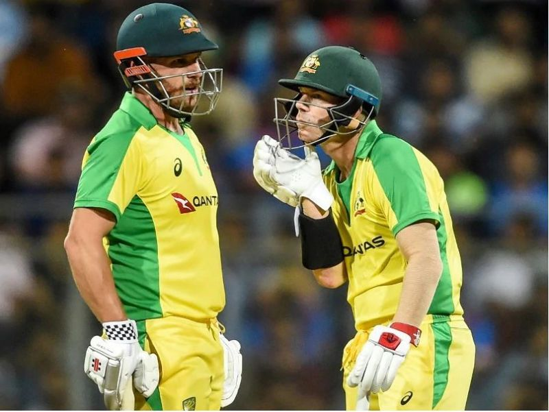Aaron Finch and David Warner demolished India