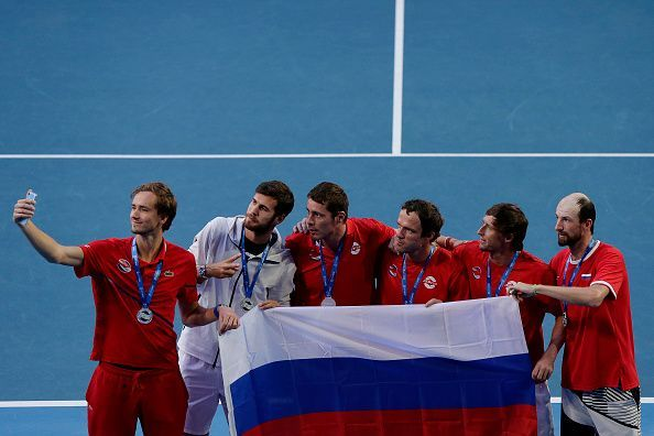 The Russia side won all their ties in the round robin stage
