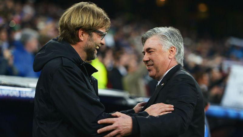 Jurgen Klopp and Carlo Ancelotti - cropped