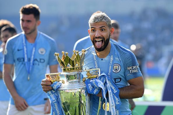 The Manchester City striker won his fourth Premier League trophy last May