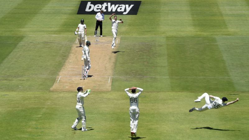 Ben Stokes holds a stunning catch
