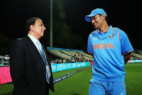 Sunil Gavaskar and MS Dhoni