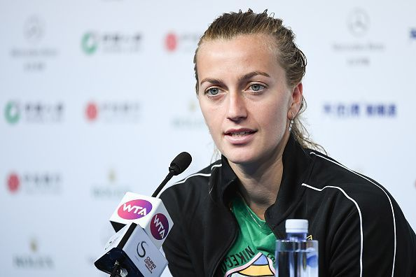 Petra Kvitova is the highest remaining seed in the top half of the draw.