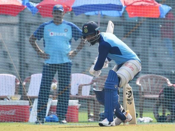 Potential opener and inform batsmen KL Rahul hits the nets in Mumbai