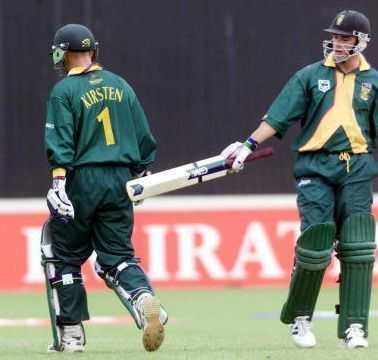 Gary Kirsten and Herschelle Gibbs wiped off the target