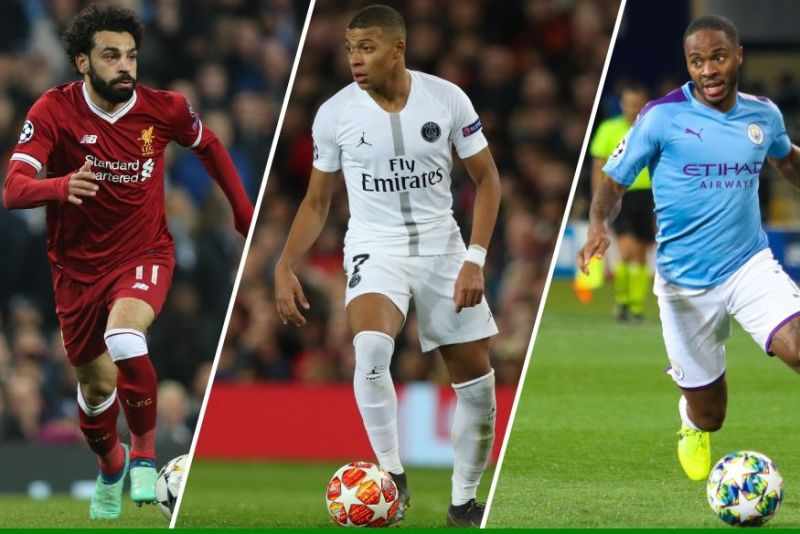Salah, Mbappe and Sterling