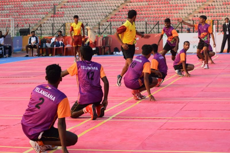 Action from Day 2 of Kho Kho competition at Khelo India Youth Games 2020