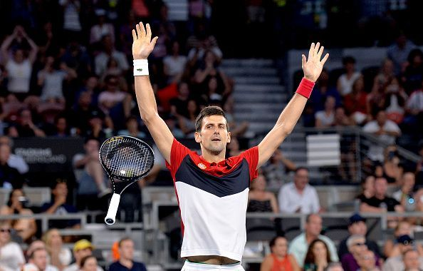 Djokovic after winning against Anderson.