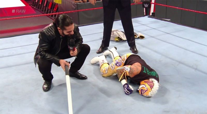 Rollins has been attacking Mysterio for weeks