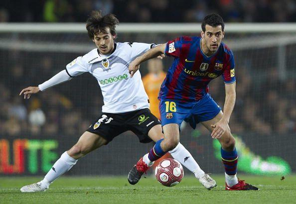 David Silva in action for Valencia
