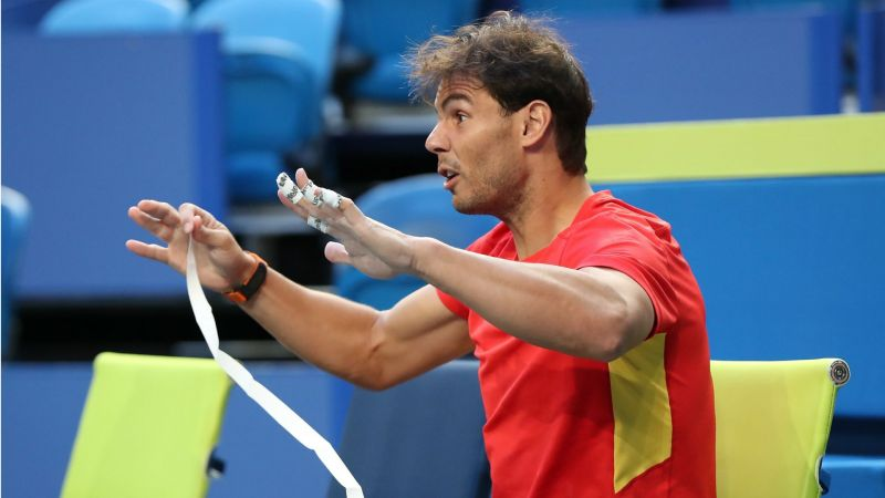 Rafael Nadal is preparing for the ATP Cup