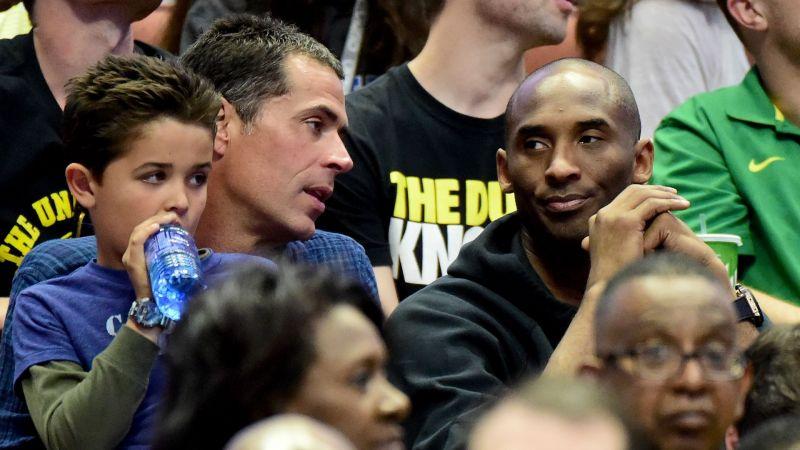 Rob Pelinka and Kobe Bryant - cropped