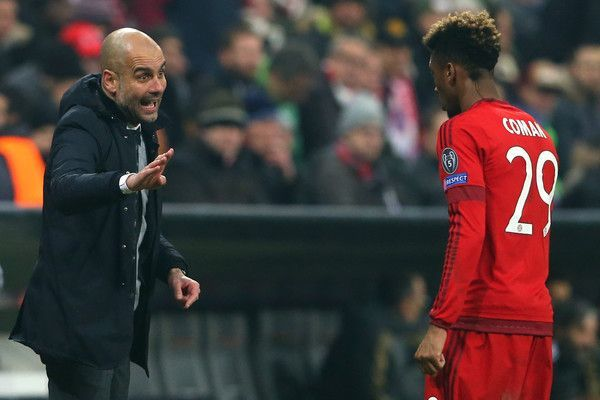Pep Guardiola and Kingsley Coman have worked together at Bayern Munich previously