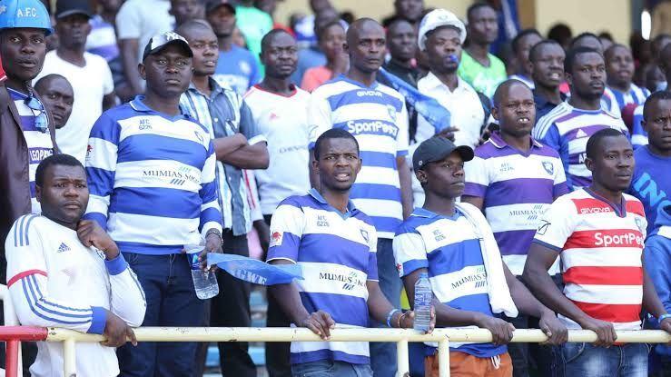 AFC Leopards fans celebrating at a recent game