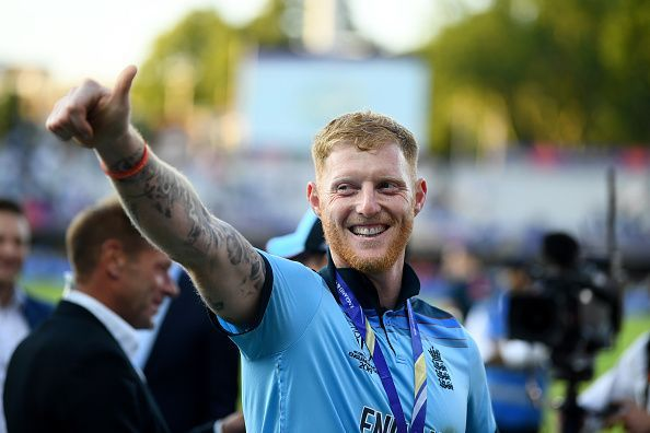 Ben Stokes was all smiles after England clinched it