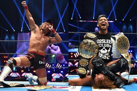 KENTA attacks Naito at Wrestle Kingdom 14