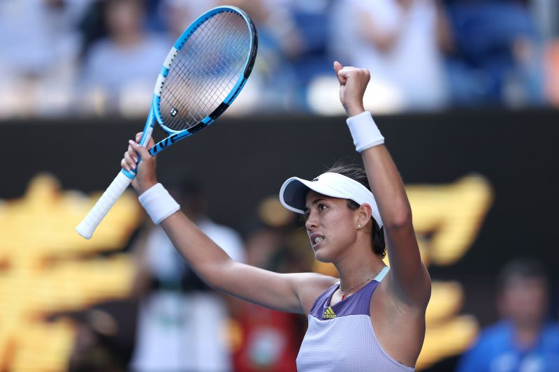 2020 Australian Open - Muguruza is ecstatic after taking down Halep in the semis