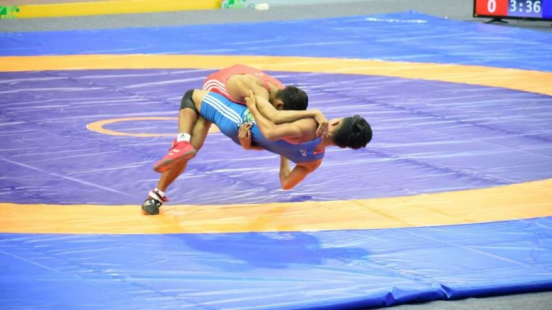 The wrestling action continues on Day 10 of the Khelo India Youth Games 2020 in Guwahati, Assam