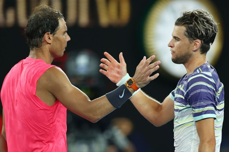 Thiem (R) was sensational against Nadal (L), but was unable to bring the same form against Zverev