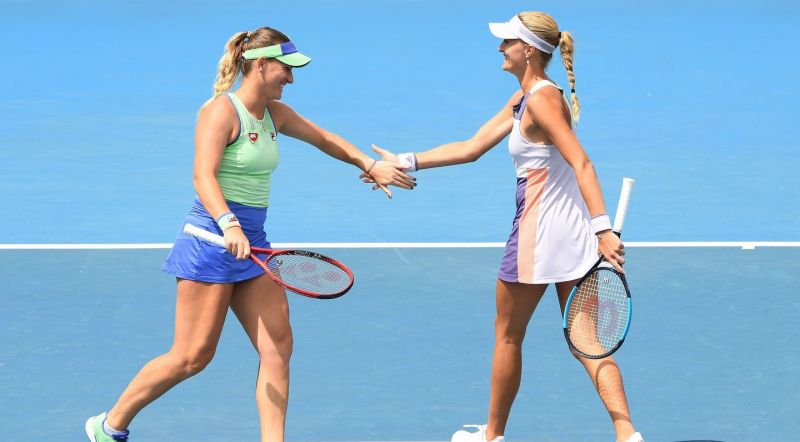 No.1 seeds Su-wei and Strycova  will face No.2 seeds Timea Babos and Kristina Mladenovic (above)