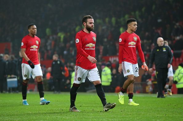 Manchester United have fallen from their previous heights
