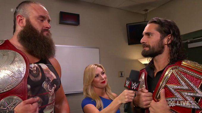 Braun Strowman and Seth Rollins