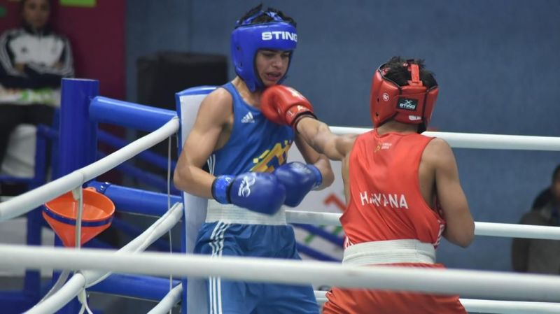 The last round of bouts was contested at the Khelo India Youth Games 2020