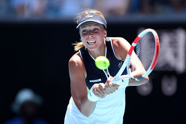 Sixth seed Belinda Bencic struggled with her first serves and returns throughout the match.