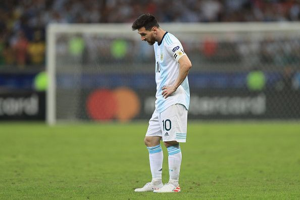 Disappointment for Argentina after a loss against Brazil in Copa America Semi-Final 2019