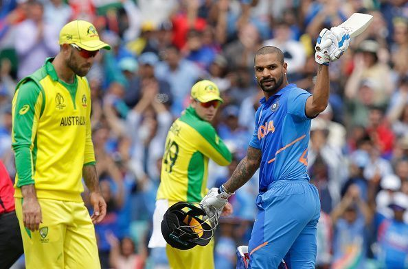 Shikhar Dhawan scored 117 against Australia at The Oval