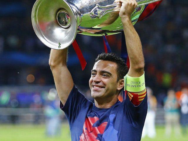 Xavi won the treble in his final season with the Catalan club