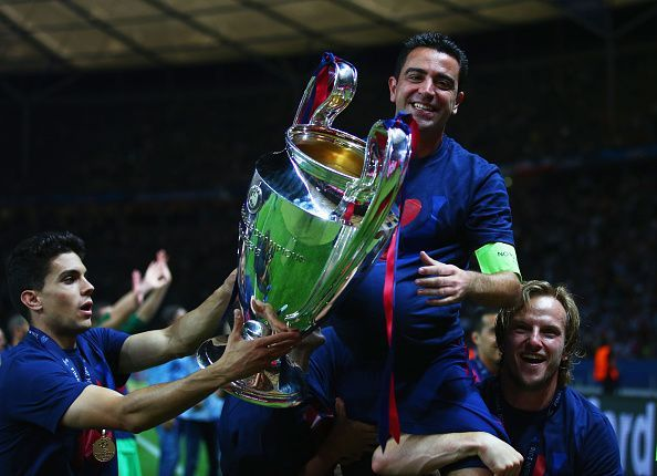 Xavi has won several trophies with Barcelona