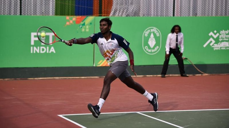 The last day of action at the courts saw four gold medal matches