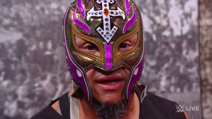 Rey Mysterio lost his mask on Raw