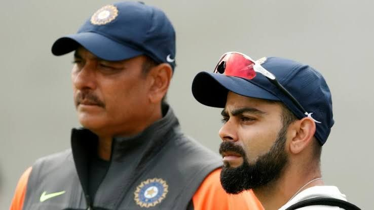 Ravi Shastri (left) and Virat Kohli (right)