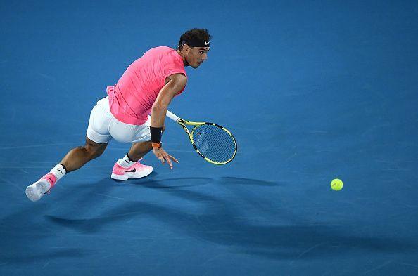 Rafael Nadal has a 4-3 record against the Australian.